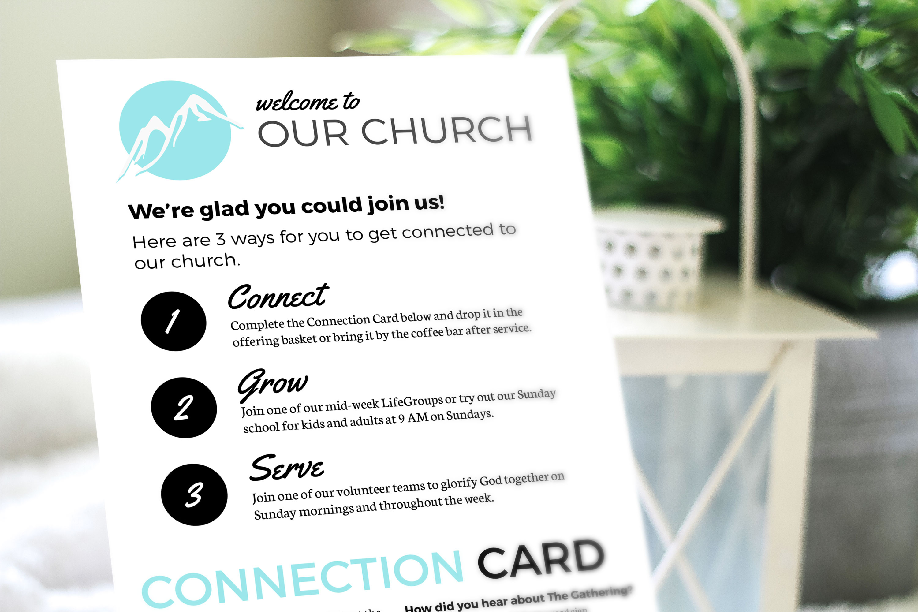 Free Design Template Connection Card Churchly